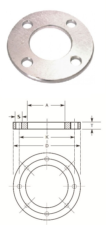 Stainless steel backing rings table d